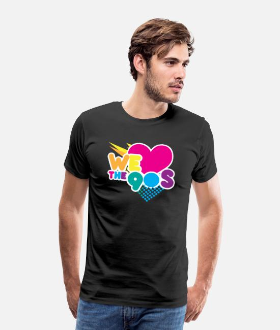 I Love T-Shirts - We love the 90's - Men's Premium T-Shirt black