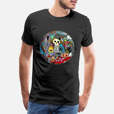 Halloween Halloween collage colored - Men's Premium T-Shirt