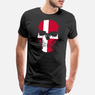 Root Denmark flag Danish skull - Men's Premium T-Shirt