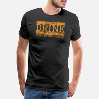 Free Beer Drinking funny beer gift all day - Men's Premium T-Shirt