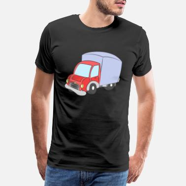 Tractor Kids Red wagon with blue tarpaulin - Men's Premium T-Shirt