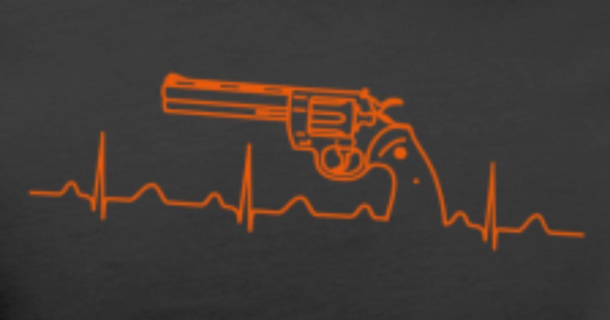 Colt Python Anaconda Revolver Heartbeat or Men's Premium T-Shirt |  Spreadshirt