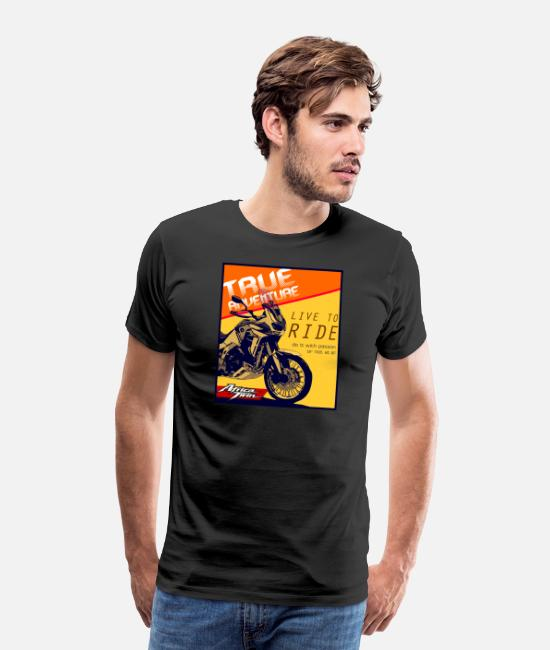 Live To Ride T-Shirts - Africa Touring Motorbike Passion - Live to Ride - Men's Premium T-Shirt black