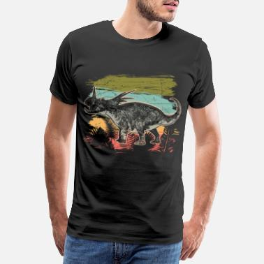 Jæger Diceratops Dinosaur Wilderness Jungle Fossil - Premium T-shirt mænd