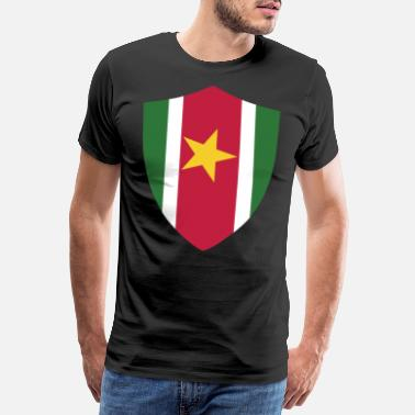 Capital SURINAME SIGN - suriname crew - Men's Premium T-Shirt