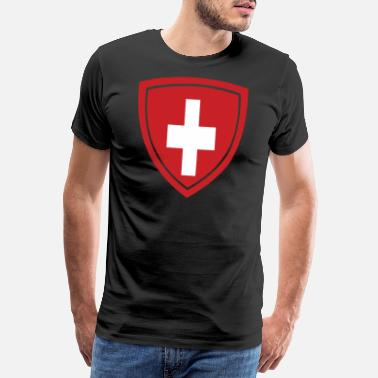 Countrymusic Switzerland Badge - Männer Premium T-Shirt