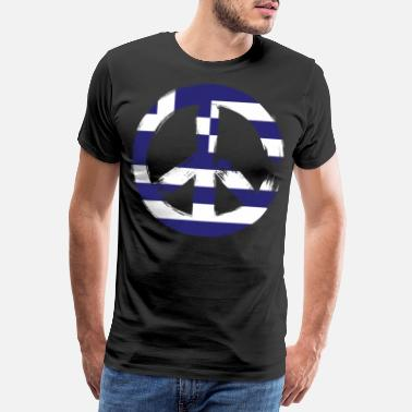 Country Greece Peace Sign - Männer Premium T-Shirt