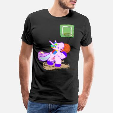 Mystical Basketball unicorn sports magical victory gift - Men's Premium T-Shirt