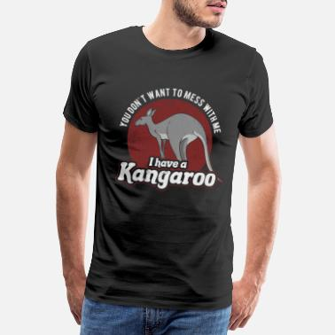 Outback Kangaroo australia animal gift - Men's Premium T-Shirt