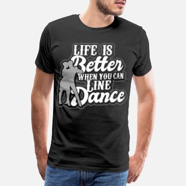 Dance Sport Linedance western country music dance sport - Men's Premium T-Shirt