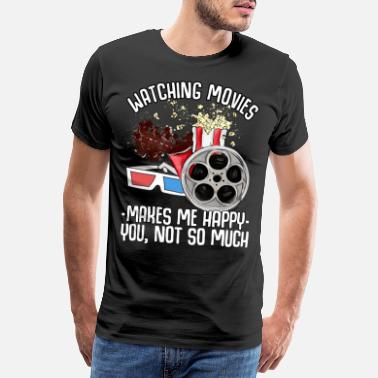 Hollywood Movie cinema television gift film roll popcorn - Men's Premium T-Shirt