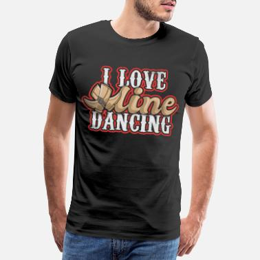 Lasso Line dance love - Men's Premium T-Shirt