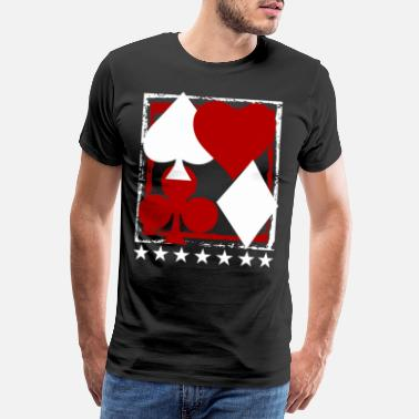 Vegas Poker Blackjack Karten Royal Flush Gambling Casino - Männer Premium T-Shirt