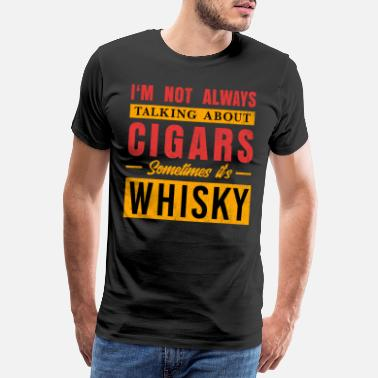 Tennessee Mens Whisky Cigar Fan Gift Cigar Lover or Cuban - Men's Premium T-Shirt