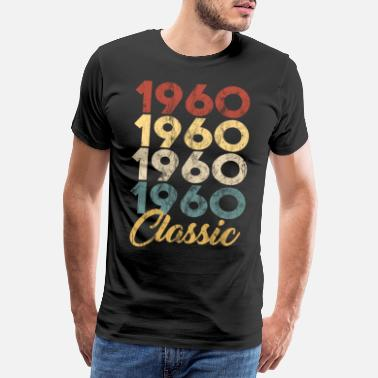 Vintage 1960 Vintage Retro Born In 1960 59th Birthday Gift - Men's Premium T-Shirt