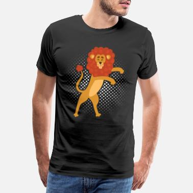 Moordenaar Floss Dance Move Lion - Mannen Premium T-shirt