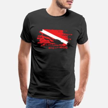 Scuba Diving Taucher Down Flag Scuba Diving Unterwassersurfer - Männer Premium T-Shirt