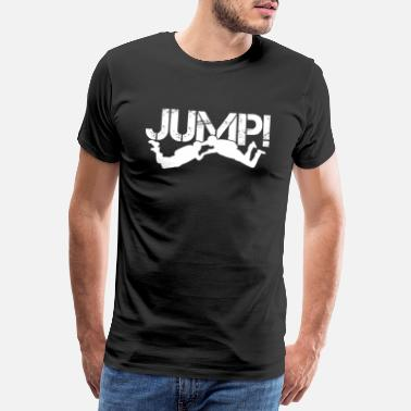 Extreme Skydiving Jump Skydive Distressed Skydiver Parachute - Men's Premium T-Shirt