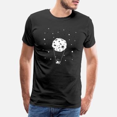 Outer Cute Awesome Astronaut Stars Moon Galaxy Outer - Men's Premium T-Shirt