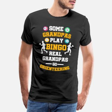 Action Vissa Grandpas Play Bingo Some Go Orienteering - Premium-T-shirt herr