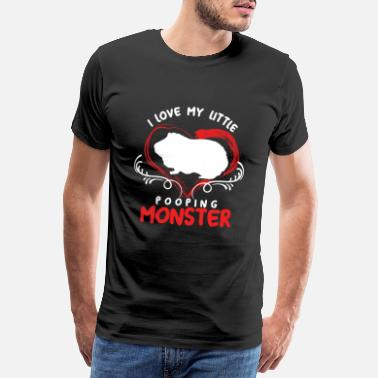 Poop Monster I Love My Little Pooping Monster Guinea Pig Cavy - Men's Premium T-Shirt