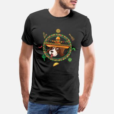 Recipe Cinco De Mayo Beagle Animal Pets Taco Mexico - Men's Premium T-Shirt