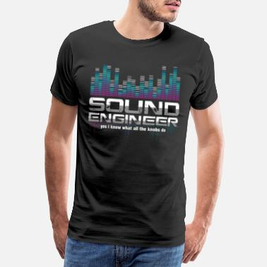 Sound Sound Technician Technical Recording Music Mixer - Men's Premium T-Shirt