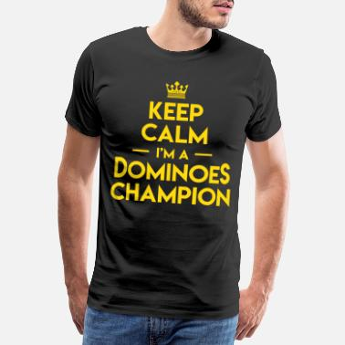 Occasion Keep Calm Dominoes Tiles Puzzler Game Gift - T-shirt premium Homme