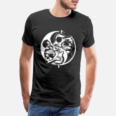Taoism Yin Yang Guitar Player Guitarrist Eguitar - Men's Premium T-Shirt