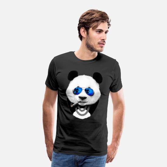 Panda T-Shirts - Cool panda - Men's Premium T-Shirt black