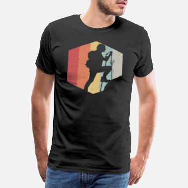 Retro Look Wanderer im Retro Look - Männer Premium T-Shirt