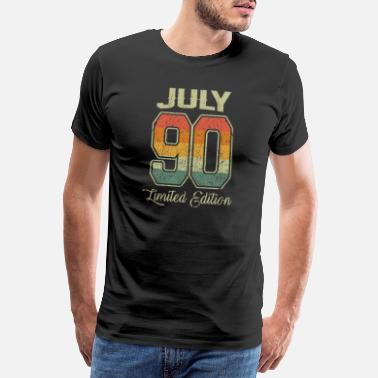 Born In July Vintage 30th Birthday July 1990 Sports Gift - Men's Premium T-Shirt