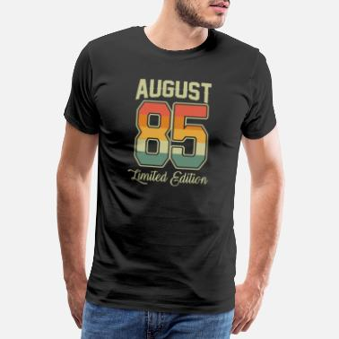 Awesome Since Vintage 35th Birthday August 1985 Sports Gift - Men's Premium T-Shirt