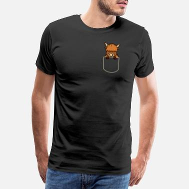 Pocket Cattle In The Pocket Gift Yak Pocket TShirt - Men's Premium T-Shirt