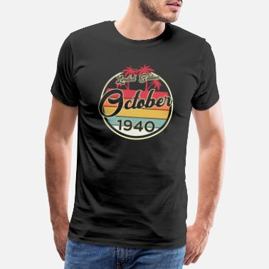 Awesome Since Vintage October 80 Year 1940 80th Birthday Gift - Men's Premium T-Shirt