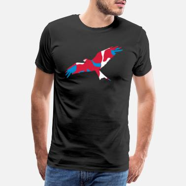 Kite UK WALES RED KITE - CAMO / CAMOUFLAGE - Men's Premium T-Shirt