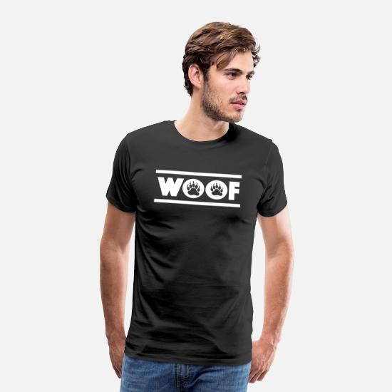 Bear T-Shirts - Woof Bear Pride Paw Paw Bear LGBT Gay - Men's Premium T-Shirt black