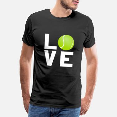 Tennis Court Tennis sport lawn tennis ball game gift - Men's Premium T-Shirt