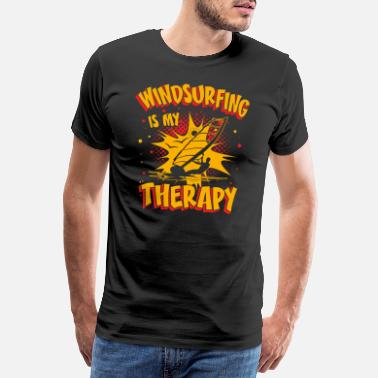 Witty Windsurfing Is My Therapy Toll Funny Sayings Fun - Men's Premium T-Shirt