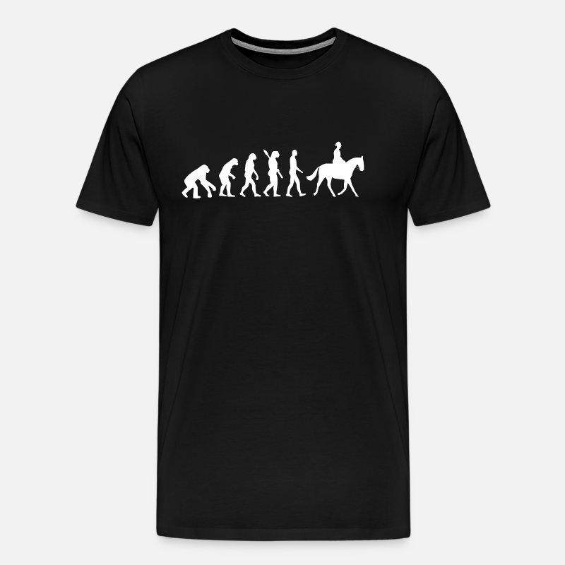 Evolution rida ridsport häst w Premium T shirt herr