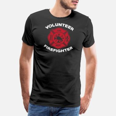 First Responders Volunteer Firefighter Fireman Fire Fighter - Men's Premium T-Shirt