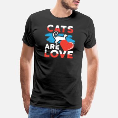 Dog Rescue Cats are Love Cat Lover - Men's Premium T-Shirt