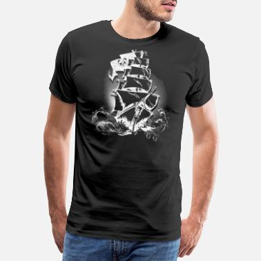 Pirate Pirate ship pirate panda panda bear eye patch - Men's Premium T-Shirt