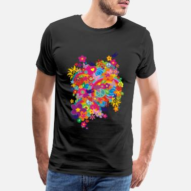 Blumen NEW FLOWER POWER RAINBOW - Männer Premium T-Shirt