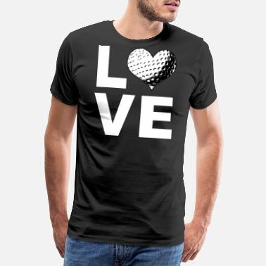 Daddy To Be I Love Golf Sports Athlete Player Gift - Men's Premium T-Shirt