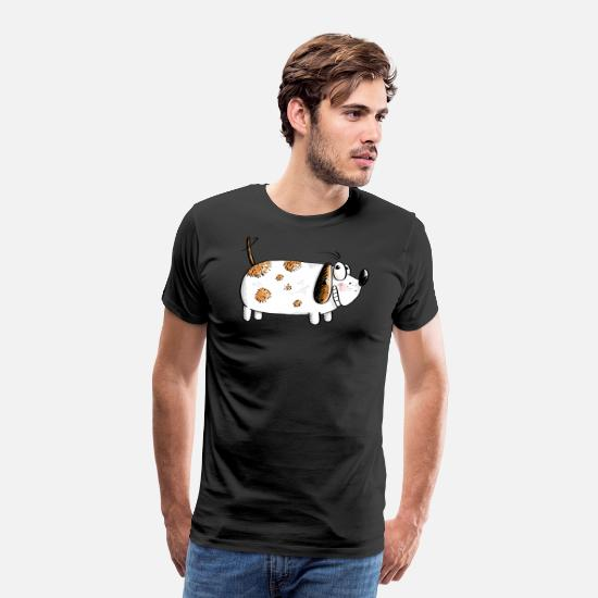 Collection T-shirts - Fat Funny Dog - Chiens Comic - T-shirt premium Homme noir