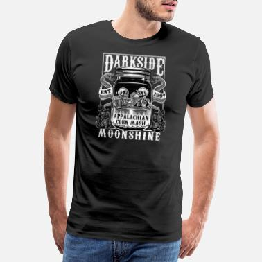 Redneck Appalachians Corn Mash Moonshine Skeleton - Premium T-skjorte for menn