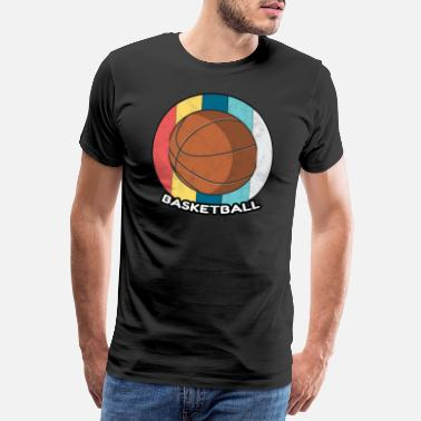 Study Basketball Vintage Sport Ball Basket Gift - Men's Premium T-Shirt