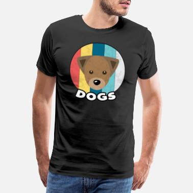 Sweets Dog Vintage Animal Pet Dogs Cute Gift - Men's Premium T-Shirt