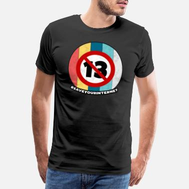 Brother Article 13 Vintage Europe Internet Save Gift - Men's Premium T-Shirt